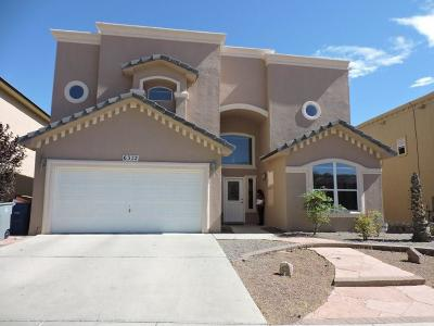 El Paso Single Family Home For Sale: 6372 Franklin Gate Drive