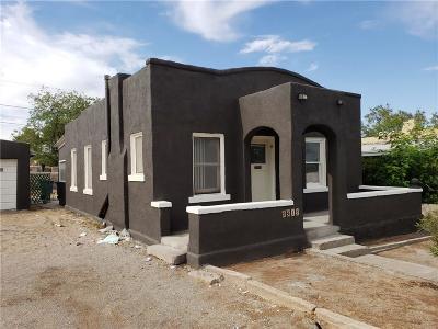 El Paso TX Single Family Home For Sale: $77,000