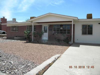El Paso TX Single Family Home For Sale: $139,900
