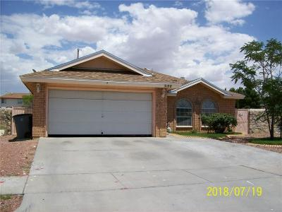 El Paso TX Single Family Home For Sale: $142,500