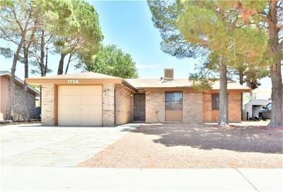 El Paso Single Family Home For Sale: 1728 Sammy Davis