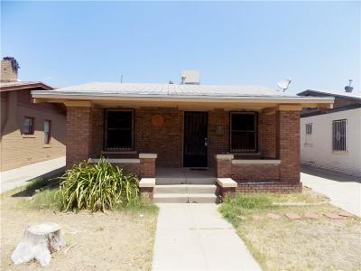 El Paso Single Family Home For Sale: 3821 Clifton Avenue