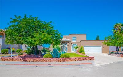 El Paso Single Family Home For Sale: 1155 Crystal Cove Place