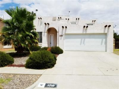 El Paso Single Family Home For Sale: 1710 Charlie Smith Drive