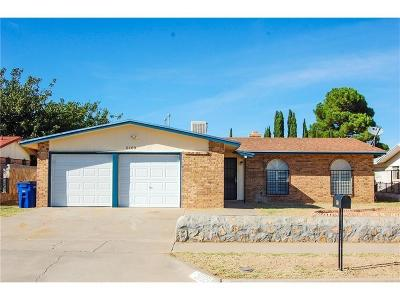 El Paso TX Single Family Home For Sale: $112,500