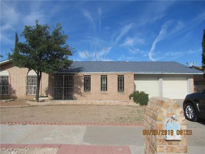 El Paso Single Family Home For Sale: 860 De Leon Drive