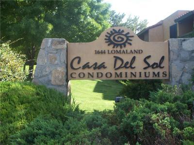 El Paso Condo/Townhouse For Sale: 1644 Lomaland Drive #114