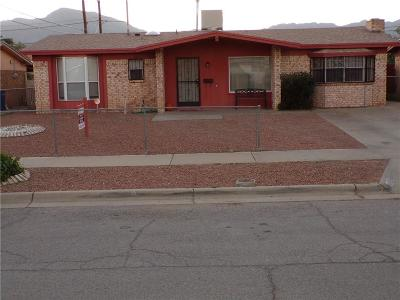 El Paso Single Family Home For Sale: 10609 Lana Place