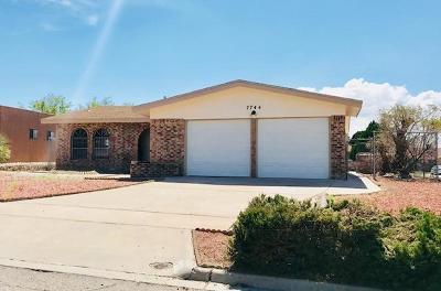 El Paso Single Family Home For Sale: 7744 Toltec Drive