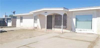 El Paso TX Single Family Home For Sale: $53,100