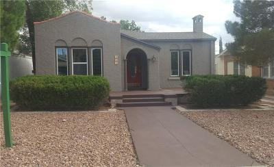 El Paso Single Family Home For Sale: 502 Cincinnati Avenue