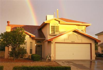 El Paso Single Family Home For Sale: 7404 Luz De Lumbre Avenue