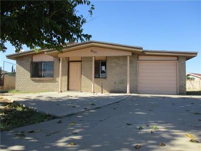 El Paso Single Family Home For Sale: 8745 Aparicio Drive