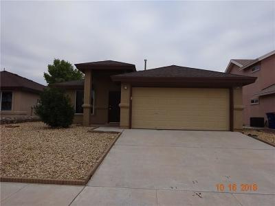 El Paso Single Family Home For Sale: 14276 Tierra Yamila Lane