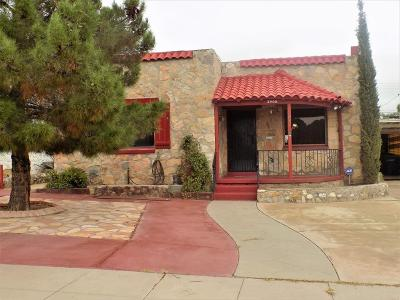 El Paso TX Single Family Home For Sale: $97,000