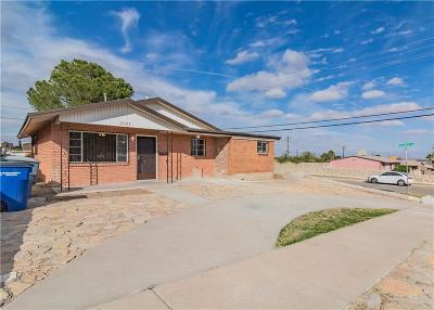 El Paso TX Single Family Home For Sale: $109,950