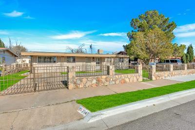 El Paso Single Family Home For Sale: 7145 Pear Tree Lane