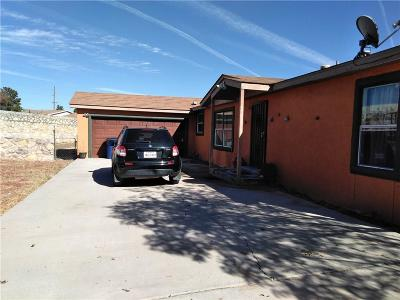 El Paso TX Single Family Home For Sale: $90,000