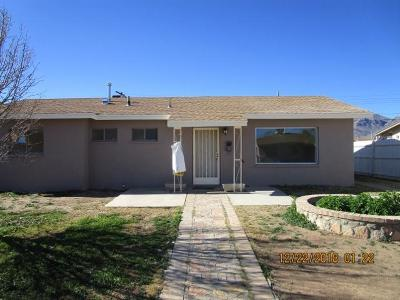 El Paso TX Single Family Home For Sale: $85,000