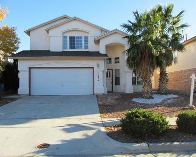 El Paso Single Family Home For Sale: 1474 Plaza Roja Court