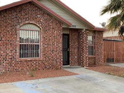 El Paso Single Family Home For Sale: 11992 Braveheart Avenue