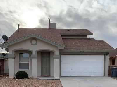 El Paso TX Single Family Home For Sale: $118,000