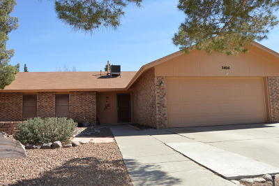 El Paso TX Single Family Home For Sale: $129,000