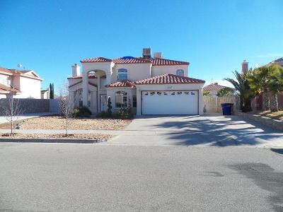 El Paso Single Family Home For Sale: 12240 Diana Natalicio Drive