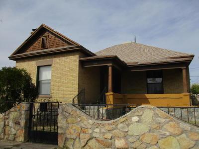 El Paso TX Single Family Home For Sale: $65,000