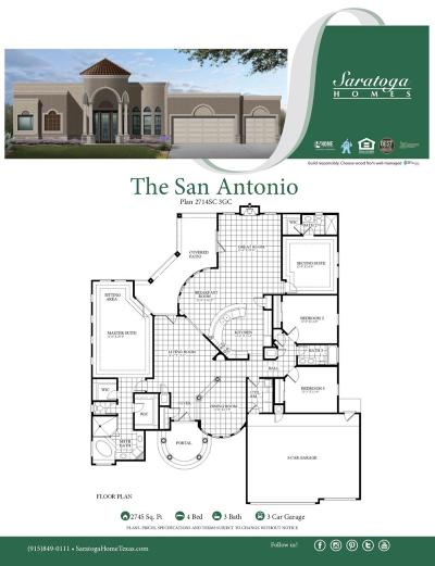 El Paso Single Family Home For Sale: 5813 Valley Spruce Drive