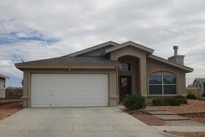 Horizon City Single Family Home For Sale: 400 Oakhurst