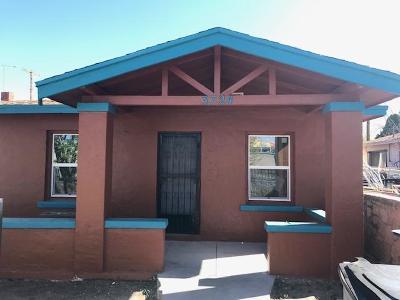 El Paso Single Family Home For Sale: 3724 Bliss Avenue