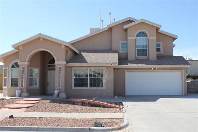 Horizon City Single Family Home For Sale: 421 Desert Dandelion Street