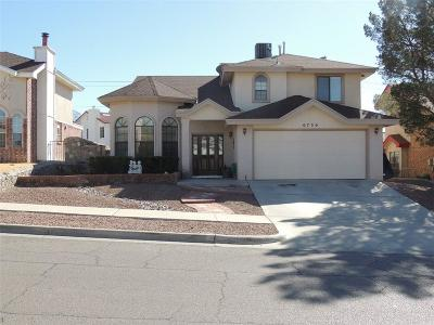 El Paso Single Family Home For Sale: 6736 Marble Canyon Drive