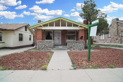 El Paso Single Family Home For Sale: 3010 Memphis Avenue