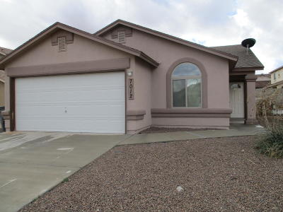 El Paso Rental For Rent: 7012 Copper Canyon Drive