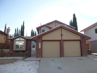 El Paso Single Family Home For Sale: 2317 John Cox Place