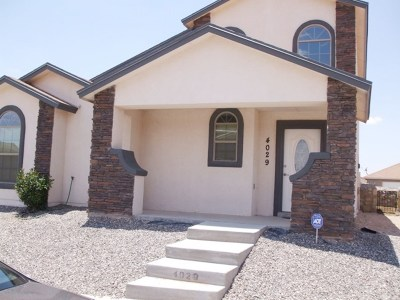 Single Family Home For Sale: 4029 Hueco Valley Drive
