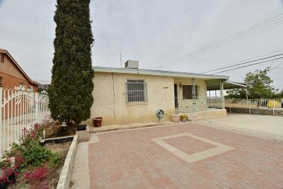 El Paso TX Single Family Home For Sale: $122,000