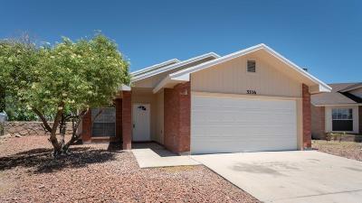 El Paso Single Family Home For Sale: 3326 Elias Place