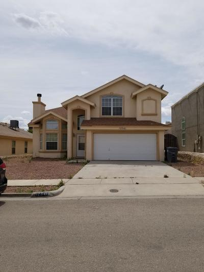El Paso Single Family Home For Sale: 12541 Paseo Alegre Drive