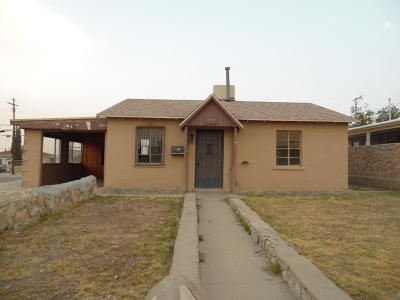 El Paso Single Family Home For Sale: 3428 Fillmore Avenue