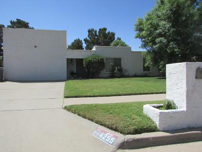 El Paso Single Family Home For Sale: 4255 La Adelita Drive