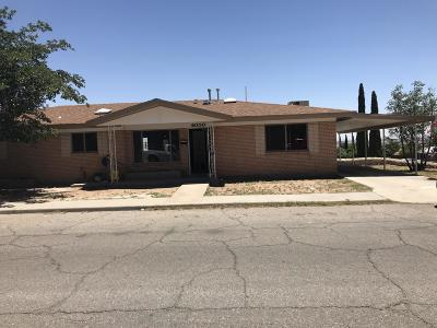 El Paso Single Family Home For Sale: 6000 Byron Street