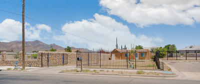 El Paso TX Single Family Home For Sale: $75,000