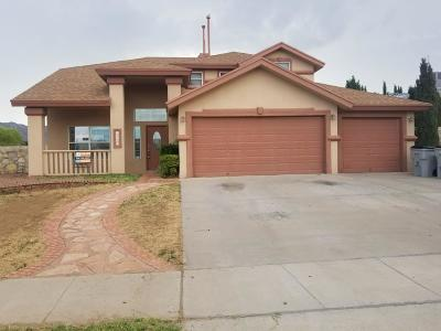 El Paso Single Family Home For Sale: 10855 Black Sands Lane