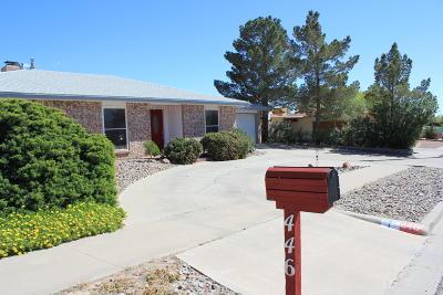 El Paso Single Family Home For Sale: 446 El Camino Drive