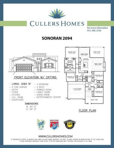 El Paso Single Family Home For Sale: 2828 Tierra De Moyo Place