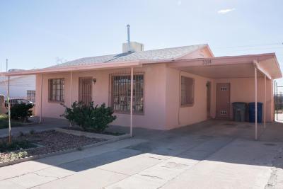 El Paso Single Family Home For Sale: 3314 Harrison Avenue