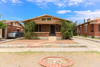 El Paso TX Single Family Home For Sale: $69,000